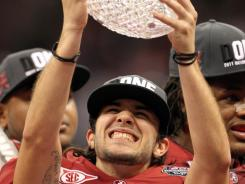 Alabama kicker Jeremy Shelley was the offensive hero.