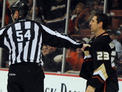 Ducks defenseman Francois Beauchemin was cleared over a hit Sunday on Jeff Carter.