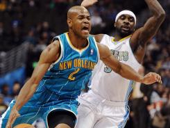 Jarrett Jack (2) had 13 points, nine assists and four rebounds as New Orleans dealt Denver its first loss in five games at home.