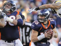 Broncos QB Tim Tebow (15) seems to be becoming increasingly dangerous in the pocket.