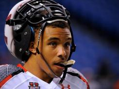 Trey Griffey, here at the Under Armour All-America Game, gave up on baseball when he turned 11 years old. He's already received offers to play at Michigan State, Washington State, Arizona and Iowa State.