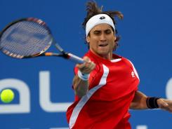 Spain's David Ferrer, seen here competing in Abu Dhabi, United Arab Emirates on Dec. 30, reached the quarterfinals in Auckland New Zealand on Wednesday.