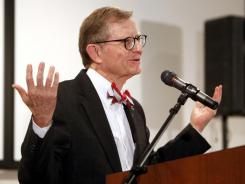 Ohio State University President E. Gordon Gee called the college football scandals monumental shame for universities academics Wednesday. Ohio State fired former coach Jim Tressel  for violating NCAA rules by failing to notify the school about information he received involving two players and questionable activities involving the sale of memorabilia.