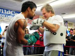 Manny Pacquiao has worked with trainer Freddie Roach for the last 10 years.
