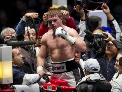 "Mexican boxer Saul ""Canelo"" Alvarez could be the May 5 foe for Floyd Mayweather, with Robert Guerrero out and Manny Pacquiao highly unlikely."