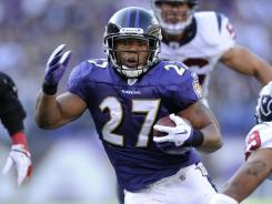 Ravens running back Ray Rice ran for 101 yards and had 60 yards receiving in