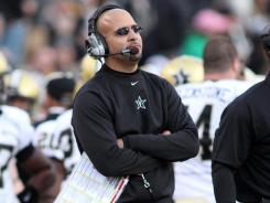 Vanderbilt coach James Franklin led the Commodores to the Liberty Bowl in his first season as coach.