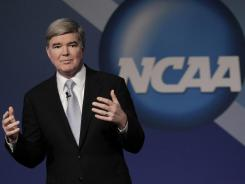 NCAA President Mark Emmert addresses delegates to the annual convention this week.