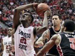 Jamaal Franklin made an off-balance layup with three-tenths of a second left to win the game for San Diego State.