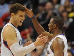 Los Angeles Clippers forward Blake Griffin, left, and guard Chris Paul, right, are among the finalists for the U.S. men's basketball team roster for the London Olympics this summer.