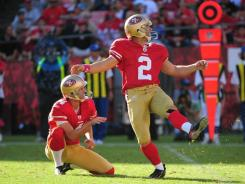 K David  Akers (2) and P Andy Lee were a huge part of the 49ers' success in 2011.