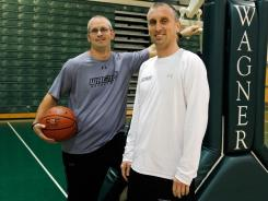 Dan (left) and Bobby Hurley have the Wagner men's basketball team off to its best start in more than 50 years. The brothers learned the game under dad Bob, the coach at St. Anthony High in Jersey City.
