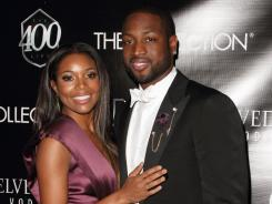Dwyane Wade and girlfriend Gabrielle Union at the Miami Heat star's 30th birthday bash Saturday in Miami Beach.