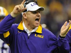 LSU coach Les Miles  dismissed  rumors of a player-coach confrontation  prior to the Tigers' loss to Alabama in the BCS title game on Jan. 8.