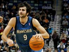 Minnesota Timberwolves guard Ricky Rubio is an early favorite for Rookie of the Year.