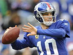 If the Giants beat the 49ers on Sunday, Eli Manning will play a game in Indianapolis before his older brother, Colts quarterback Peyton, does.