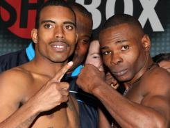 Rico Ramos, left, and Guillermo Rigondeaux are both unbeaten heading into their WBA Super Bantamweight title fight on Friday in Las Vegas.