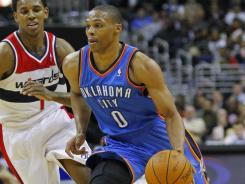 Russell Westbrook is averaging 20.5 points, 5.3 assists, 5.0 rebounds and 1.7 steals a game thus far this season.