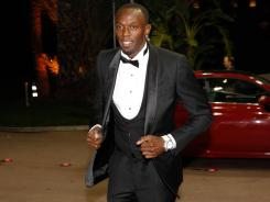 Usain Bolt arrives for the International Association of Athletics Federations (IAAF) World Gala on Nov. 12, 2011 in Monte-Carlo, Monaco.
