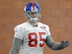 Giants tight end Jake Ballard has three catches for 33 yards in the Giants' two playoff wins.