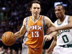 Steve Nash (13) had 11 points and nine assists as the Suns won their second in a row following a five-game losing streak.