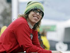 Snowboarder Kevin Pearce, seen here in March 2011 in Stratton, Vt., fell on the same pipe that Sarah Burke did in 2009. Pearce suffered a traumatic brain injury in the accident.