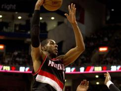LaMarcus Aldridge had 33 points and a career-high 23 rebounds to help Portland beat Toronto for the seventh time in a row.