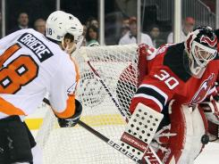 Danny Briere is out indefinitely with a concussion, the Flyers announced after he played against the Devils.