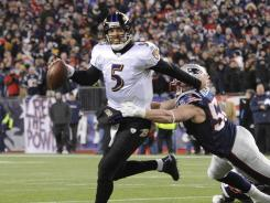 Joe Flacco played well, but a late end-zone incompletion and a missed 32-yard field goal doomed the Ravens.