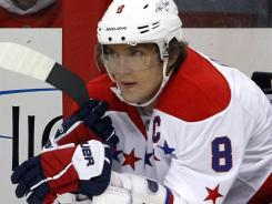 Washington's Alex Ovechkin was suspended for three games for a hit on Pittsburgh's Zbynek Michalek.