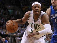 Paul Pierce (34) had a game-high 19 points to lead the Celtics to their third win in four games.