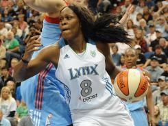 Taj McWilliams-Franklin (8) averaged 8.3 points and 6.0 rebounds for the Lynx last season, her 13th in the WNBA.