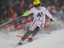 Marcel Hirscher of Austria wins a World Cup men's slalom on Tuesday in Schladming, Austria.