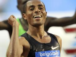 In this Sept. 16, 2011 file photo, Ethiopia's Kenenisa Bekele wins the 10,000 meters during the Memorial Van Damme Diamond League meeting at the King Baudouin stadium in Brussels.