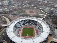 A file picture taken on December 5, 2011, shows the London 2012 Olympic Games' Olympic Stadium in the Olympic Park in east London.