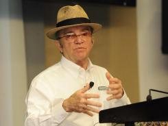 Team owner Jack Roush discusses his team's situation Tuesday at Charlotte Motor Speedway. Roush Fenway Racing, despite marvelous on-track performance, is struggling to find sponsorship dollars.
