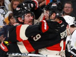 USA TODAY's Kevin Allen had Daniel Alfredsson, left, loading up on Jason Spezza and other Ottawa Senators teammates at the fantasy draft.