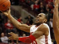Ohio State's J.D. Weatherspoon is fouled while going to the basket during the second half Wednesday.
