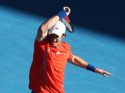 Andy Murray of Britain joins the top three players in the world in the men's semifinals at the Australian Open.
