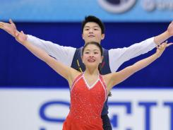 Maia Shibutani and Alex Shibutani of the U.S. perform in the ice dance during the ISU Grand Prix of Figure Skating NHK Trophy at Makomanai Sekisui Heim Arena on Nov. 12, 2011 in Sapporo, Japan.