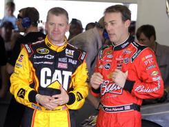 Kevin Harvick, right, and Jeff Burton seem to have fresh outlooks entering 2012 -- Harvick as a dad-to-be and Burton with a new crew chief.