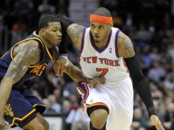Carmelo Anthony (7) will not play Friday when the Knicks visit Miami because of thumb, wrist and ankle problems, and is not expected in the lineup when New York heads to Houston on Saturday.
