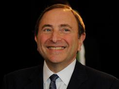 Commissioner Gary Bettman said he's leaving the start of formal labor talks up to the players association.