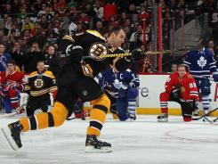Zdeno Chara had four tries in the hardest shot competition and eclipsed his own NHL record with each one.