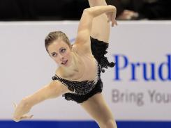 Ashley Wagner competes in the women's free skate event at the U.S. Figure Skating Championships in San Jose on Saturday. She won her first national title.