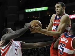 Washington's JaVale McGee shot nine of 14 from the field in scoring 22 points for the Wizards against the Charlotte Bobcats.