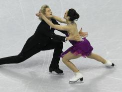Charlie White and Meryl Davis compete in their free dance in the ice dancing event at the U.S. Figure Skating Championships in San Jose on Saturday.