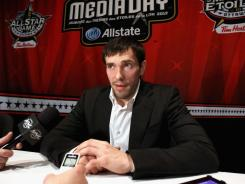 The humble Pavel Datsyuk was put in the spotlight after Zdeno Chara made him the first pick in the fantasy draft.