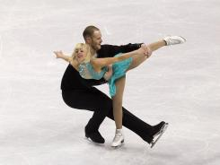 Caydee Denney and John Coughlin compete in the pairs free skate during the 2012 U.S. Figure Skating Championships at HP Pavilion on Sunday in San Jose. They won their first U.S. title.
