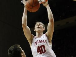 Cody Zeller (40) scored a season-high 26 points as Indiana topped 100 in a conference game for the first time since March 12, 1995.